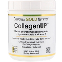 California Gold Nutrition, Collagen UP 5000, Marine-Sourced Collagen Peptides + Hyaluronic Acid + Vitamin C